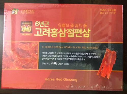 HONEY SLICED RED GINSENG